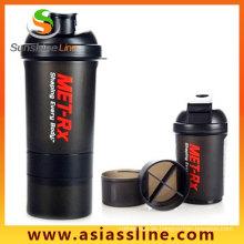 3 in 1 Shaker Flasche 700ml Kunststoff Shaker Cup