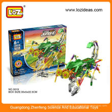 Loz assemblant blocs de construction robot électrique diy toy