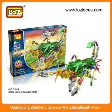 Loz assembling building blocks robot electric diy toy