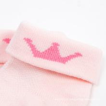 Tourner les chaussettes en coton fille brassard Reine Couronne Designs