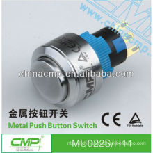 22mm CMP waterproof 1NO 1NC/2NO 2NC momentary or latching anti-vandal stainless steel electrical start button IP67