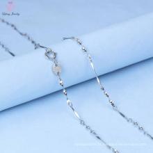 Design de moda 925 cadeia de colar de mão de prata para homens