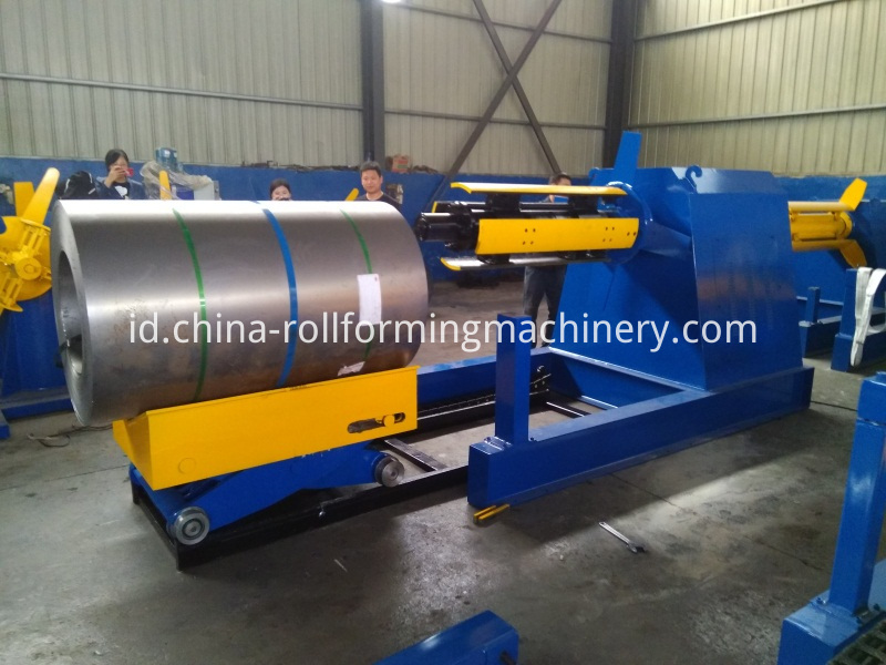 Feeding Coil For Hydraulic Decoiler