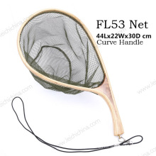 New Design Curve Handle Rubber Fishing Landing Net