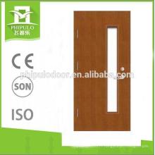 meilleure qualité nouvelle conception bois verre coupe-feu conception de la porte sur la Chine en gros