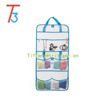 Amazon hot sell sundries mesh fabric hanging storage kid toy organizer 8 pockets hanging mesh organizer