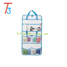 Amazon hot sell sundries mesh fabric hanging storage kid toy organizer 8 pockets hanging mesh organizer