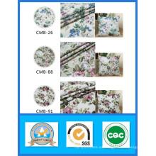 Tela 100% algodón estampado de lona de flores en stock Peso 180GSM Ancho 150cm