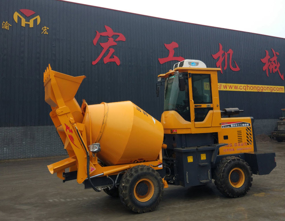 Off-road Wheeled Mobile Self-loading Beton Mixer