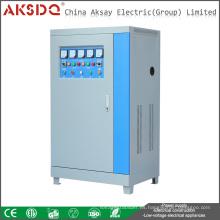 Venta caliente SBW 300kva trifásico 50Hz 380V compensado automático estabilizador WenZhou del voltaje de la CA de la energía China