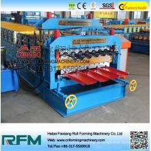 Fornecimento de aço formador de telhas de série máquina de rolo de camada dupla