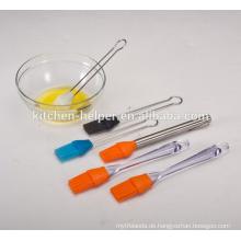 Lange Handle Küche Gebäck Food Grade Hitzebeständige Antihaft Kochen Silikon Kuchen Luft Pinsel