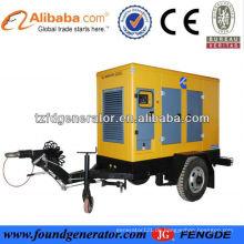CER genehmigte stille Dieselgeneratorgruppe, 20-400kw stilles Anhängeraggregat