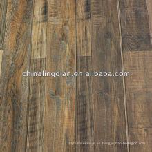 2014 el más nuevo suelo laminado del color de la nuez 8m m fabricante del China del piso del hdf 3-strip
