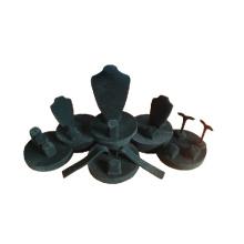 Showcase da exposição da jóia da camurça do preto por atacado (WST-WL-T002)