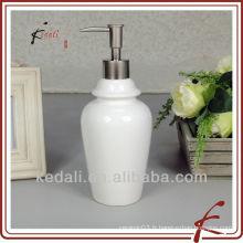 Distributeur de savon liquide à distributeur à haute teneur en céramique en porcelaine