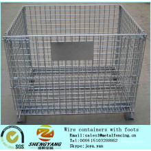 China seller warehouse stackable storage cages collapsible cages saving space transport special used metal mesh pallet cages
