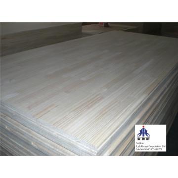 Tablero de madera de pino junta de dedo