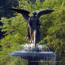 hochwertiger Messing-Wasserbrunnen mit Engel