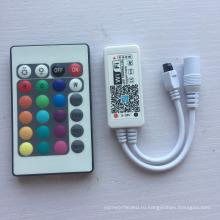Высокое качество вольтовый dc5-28v течение 24 ключи ИК-пульт дистанционного беспроводной rgbw контроллеры для светодиодные ленты Lights