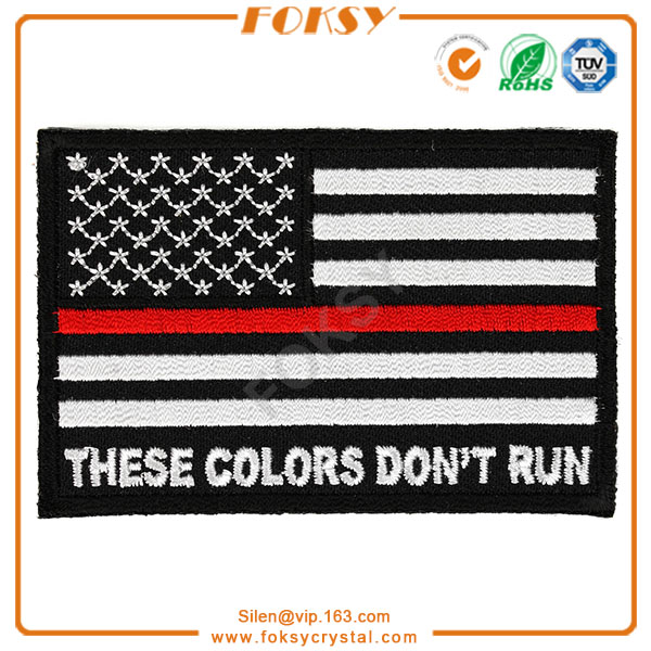 Flag embroidery patch