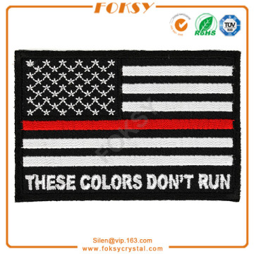 OEM/ODM for Embroidered Patches USA Flag iron patch sticker embroidery supply to Italy Factories
