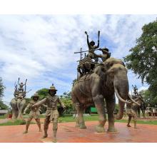 Bronzegießerei Gießereimetallhandwerksmessingelefant Thailand für Garten