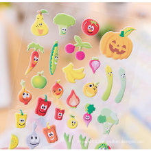 China Bulk Sale Cheap Gifts Self Adhesive Pvc Kids Cute Decoration Puffy Sticker