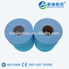 Rollos planos de esterilización con sellado térmico de papel y plástico