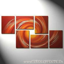 Pintura abstracta de la decoración del arte de Diy de Xiamen, impresiones de la división