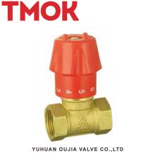 válvula de control de la manija plástica del solenoide hidráulico de cobre amarillo