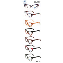 Fashion Colorful Optical Frame Glasses Acetate Eyewear (HM937)