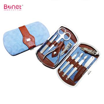 Set di strumenti per pedicure in acciaio inossidabile con custodia in pelle