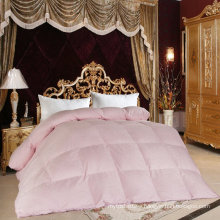 Pink Polyester Peach Skin Microfiber Filled Comforter