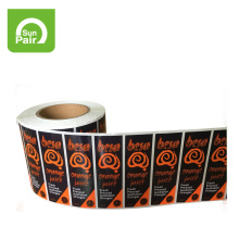 Taizhou wholesale custom adhesive roll label stickers hair packaging labels
