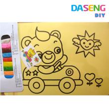 Cartes de jouets pour enfants et art de sable avec 10 couleurs de sable en gros