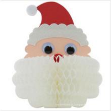 Exposição 2015 de Santa do favo de mel das decorações do papel do Natal do favo de mel