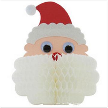 2015 Honeycomb Christmas Paper Decorations Honeycomb Santa Display