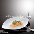 CHAOZHOU Hotel & Restaurant weiße Porzellanteller, Porzellangeschirr, Mikrowellensicherer Teller
