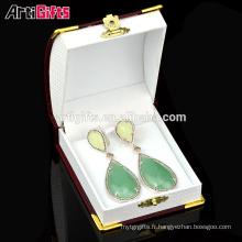 Dernières boucles d'oreilles style simple pas cher personnalisé boucles d'oreilles fines avec boîte-cadeau