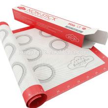 New gadgets china fda colorido padrão não stick silicone assar tapete