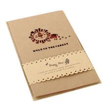 Nuevas tarjetas de felicitación de papel del diseño Impresión de la invitación de la boda