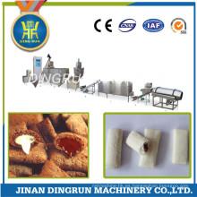 relleno de crema bocados fabricación de alimentos extrusora