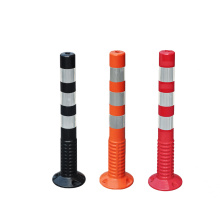 750mm PU flexible plastic road traffic warning post