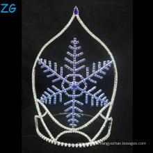 Art und Weiseentwurfs-blaue Schneeflocke-Tiara-Weihnachtskrone
