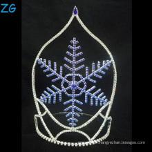 Design de mode Blue Snowflake Tiara Christmas Crown