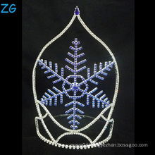 Fashion Design Blue Snowflake Tiara Christmas Crown