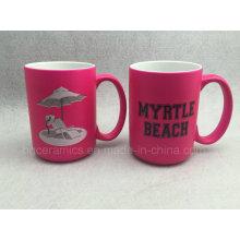 Pink Mug, Promotional Mug. 15oz Pink Mug