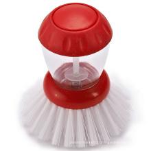 Approvisionnement en usine vente chaude rouge nouveau produit cuisine brosse de savon distribution éponge brosse pot