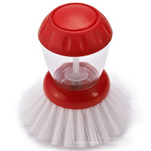 Factory Supply Hot Sale Red New Product Kitchen Brush Soap Dispensing Sponge Brush Pot